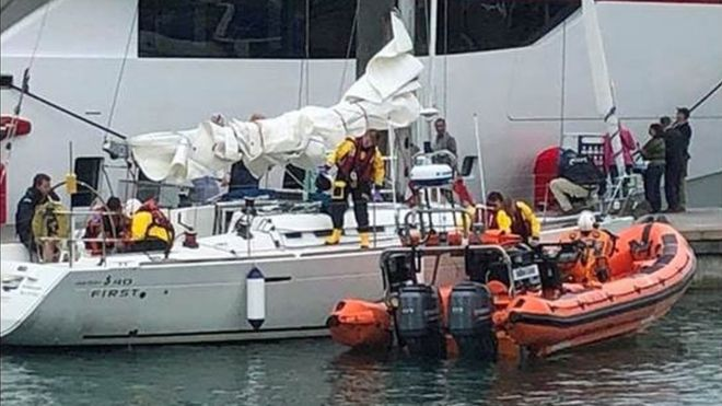 Man rescued from yacht in the Solent after seizure