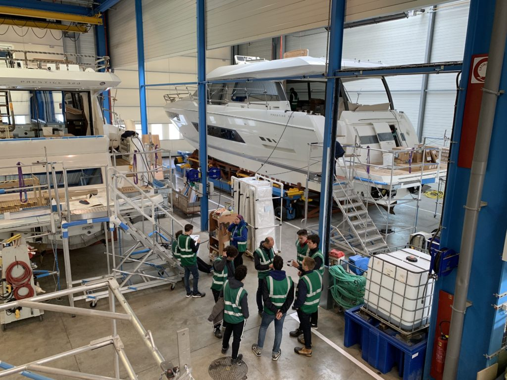 Students wowed by boat building brands as part of new employability